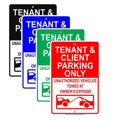 Resident and Tenant Parking Signs
