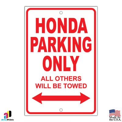 Car Make and Model Parking Signs
