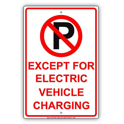 Electric Car Parking Signs