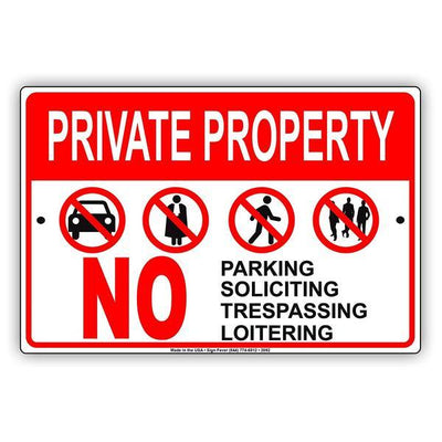 No Loitering and Soliciting Signs