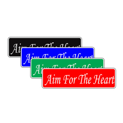 Aim For The Heart Valentine's Day Novelty Street Metal Plate Wall Decor Aluminum Sign