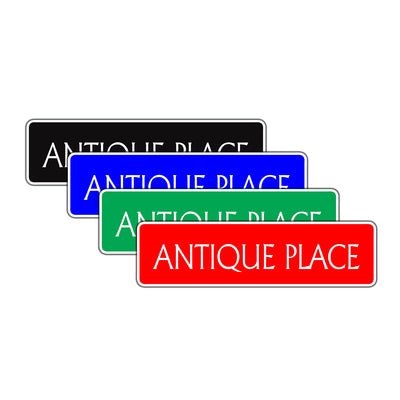Antique Place Bar Garage Road Aluminum Metal Novelty Street Plate Sign Wall Gift Decor
