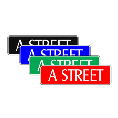A Street Name Letter Road Aluminum Metal Novelty Street Plate Sign Wall Gift Decor