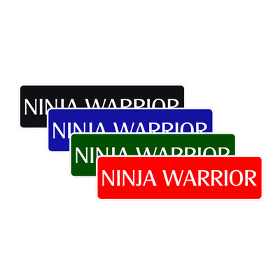 Ninja Warrior Karate MMA Road Aluminum Metal Novelty Street Plate Sign Wall Gift Decor