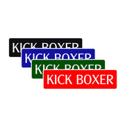Kick Boxer Karate MMA Road Aluminum Metal Novelty Street Plate Sign Wall Gift Decor