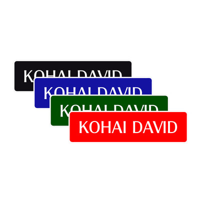 Kohai Customizable Name Karate MMA Road Aluminum Metal Novelty Street Plate Sign Wall Gift Decor