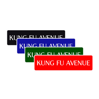 Kung Fu Avenue Road Aluminum Metal Novelty Street Plate Sign Wall Gift Decor