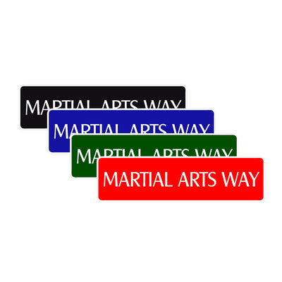 Martial Arts Way Karate MMA Road Aluminum Metal Novelty Street Plate Sign Wall Gift Decor