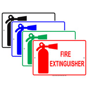 Fire Extinguisher Fire Emergency Safety Alert Caution Warning Notice Aluminum