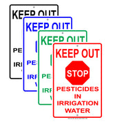 Keep Out Stop Pesticides In Irrigation Water Epa Safety Alert Caution Warning Notice Aluminum