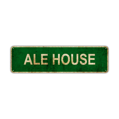 Ale House Vintage Retro Street Sign Rustic Metal Aluminum Decor Wall Shop Man Cave Bar Gift