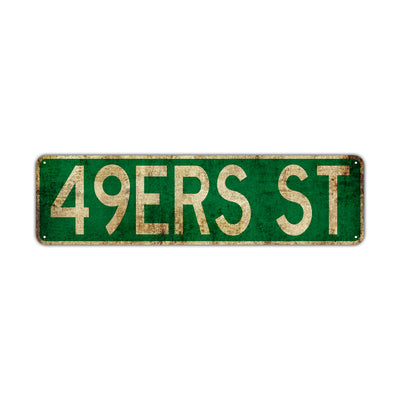 49 Ers St Vintage Retro Street Novelty Sign Rustic Metal Aluminum Decor Wall Man Shop Cave Bar Gift