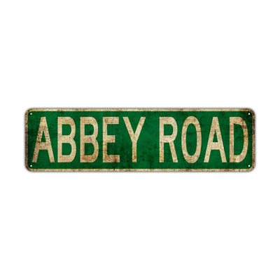 Abbey Road Vintage Retro Street Novelty Sign Rustic Metal Aluminum Decor Wall Man Shop Cave Bar Gift