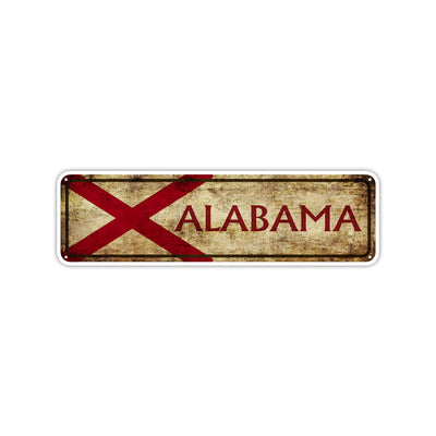 Alabama State Country United States Vintage Retro Street Novelty Sign Rustic Metal Aluminum Decor Wall Man Shop Cave Bar Gift