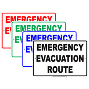 Emergency Evacuation Route Notice Novelty Aluminum Metal Sign Plate