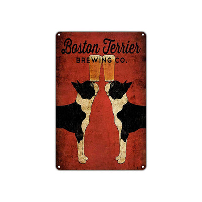 Boston Terrier Dog Signs