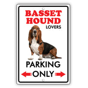Beware! Guard Basset Hound On Duty Dog Sign
