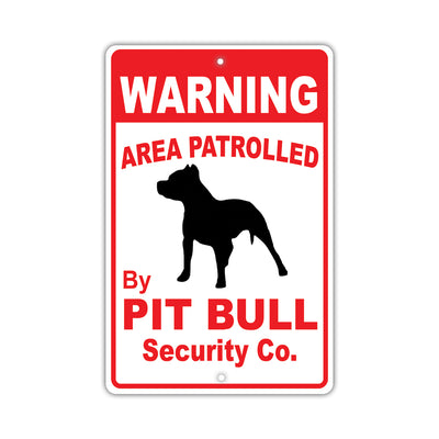 Pit Bull Dog Signs