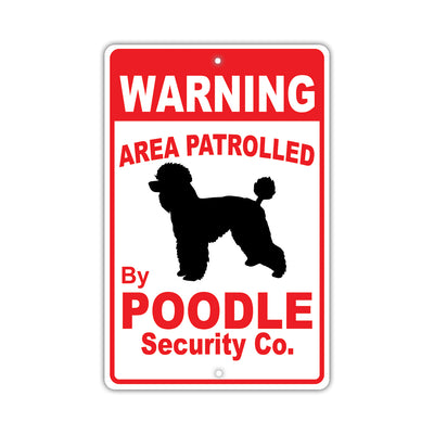Poodle Dog Breed Signs