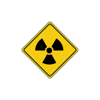 Warning Radioactive Materials with Graphic Alert Dangerous Xing Metal Aluminum Novelty Plate Sign