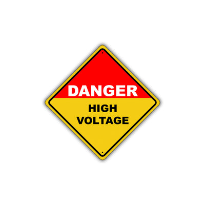 Caution Danger High Voltage Hazardous Osha Attention Metal Alert Aluminum Novelty Notice Sign Plate