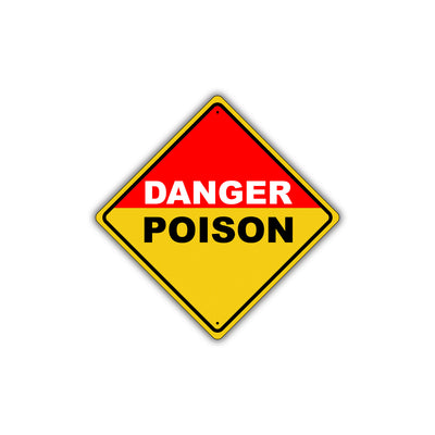 Caution Danger Poison Hazard Warning Keep Out Metal Alert Aluminum Novelty Notice Sign Plate