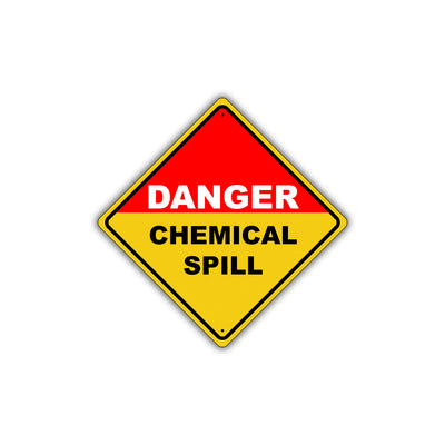 Caution Danger Chemical Spill Osha Hazardous Metal Alert Aluminum Novelty Notice Sign Plate
