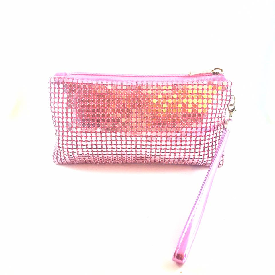 Pink Glomesh Pouch
