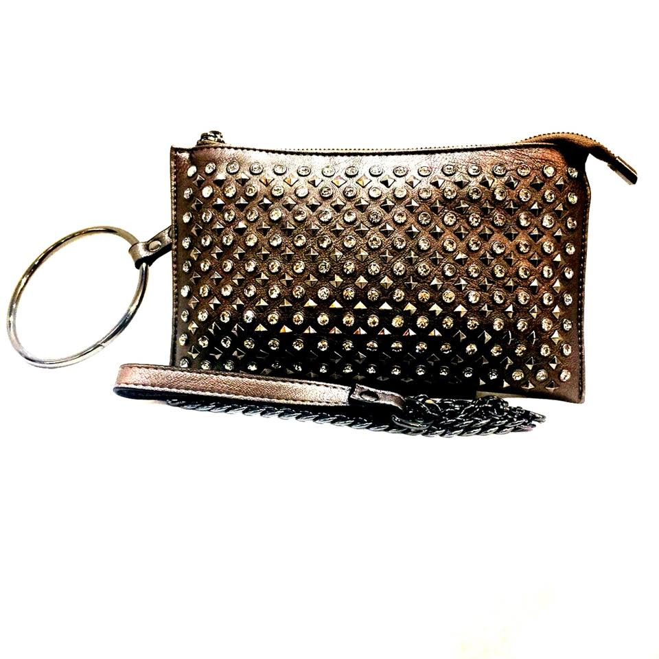 Chloe Inspired Studded Clutch