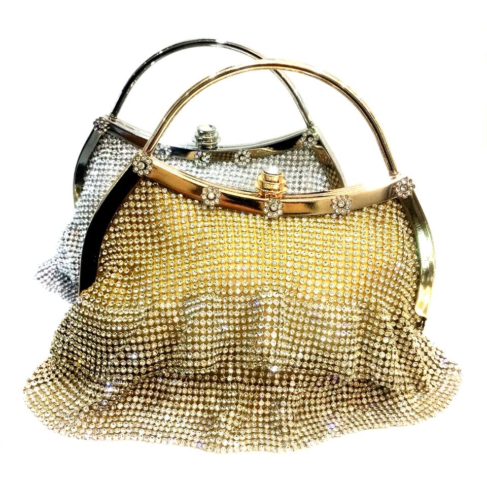 Metallic Mesh Clutch