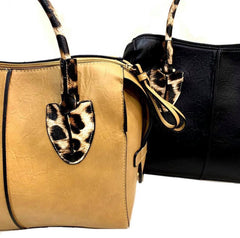 Leopard Handle Handbag