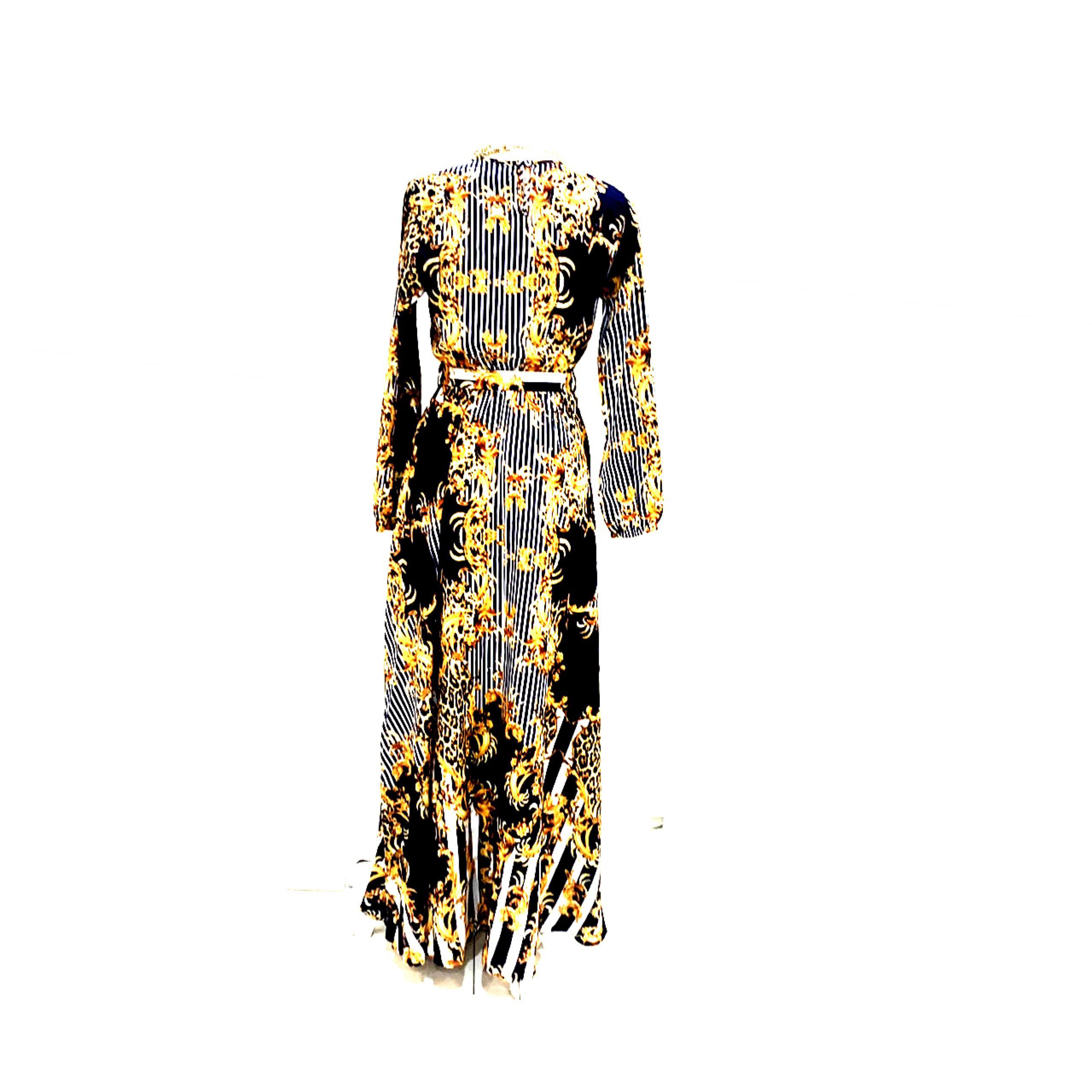 Versace Inspired Print Dress