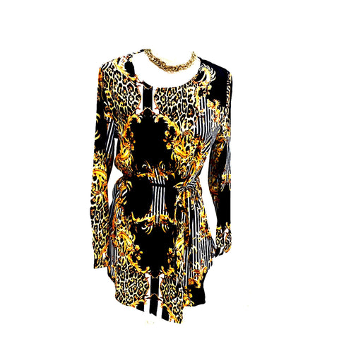 Versace Inspired Print Top