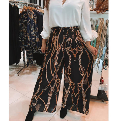 Versace Inspired flowing pants