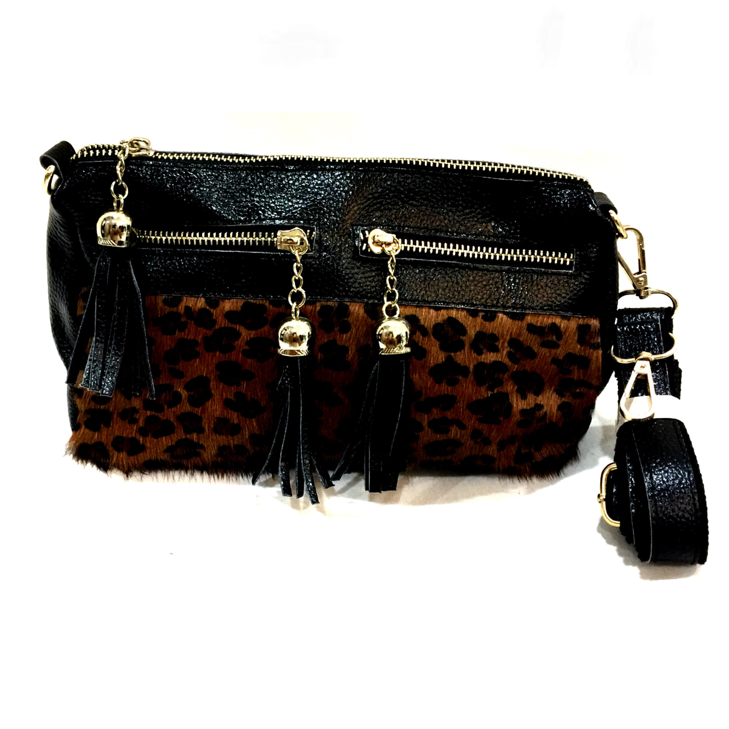 Leopard Trendy Vegan Leather Handbag