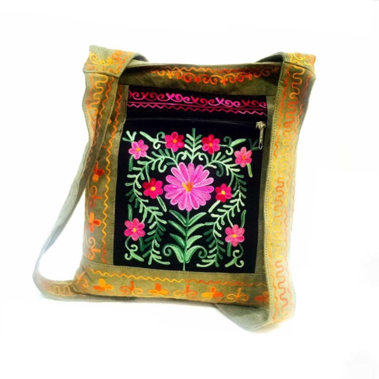 Vintage Flower Embroidered Bag