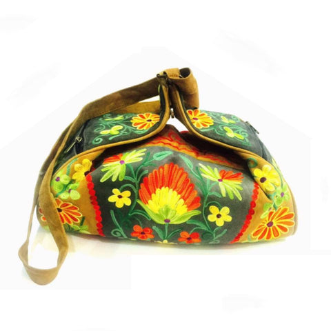 Flower Suede Bag