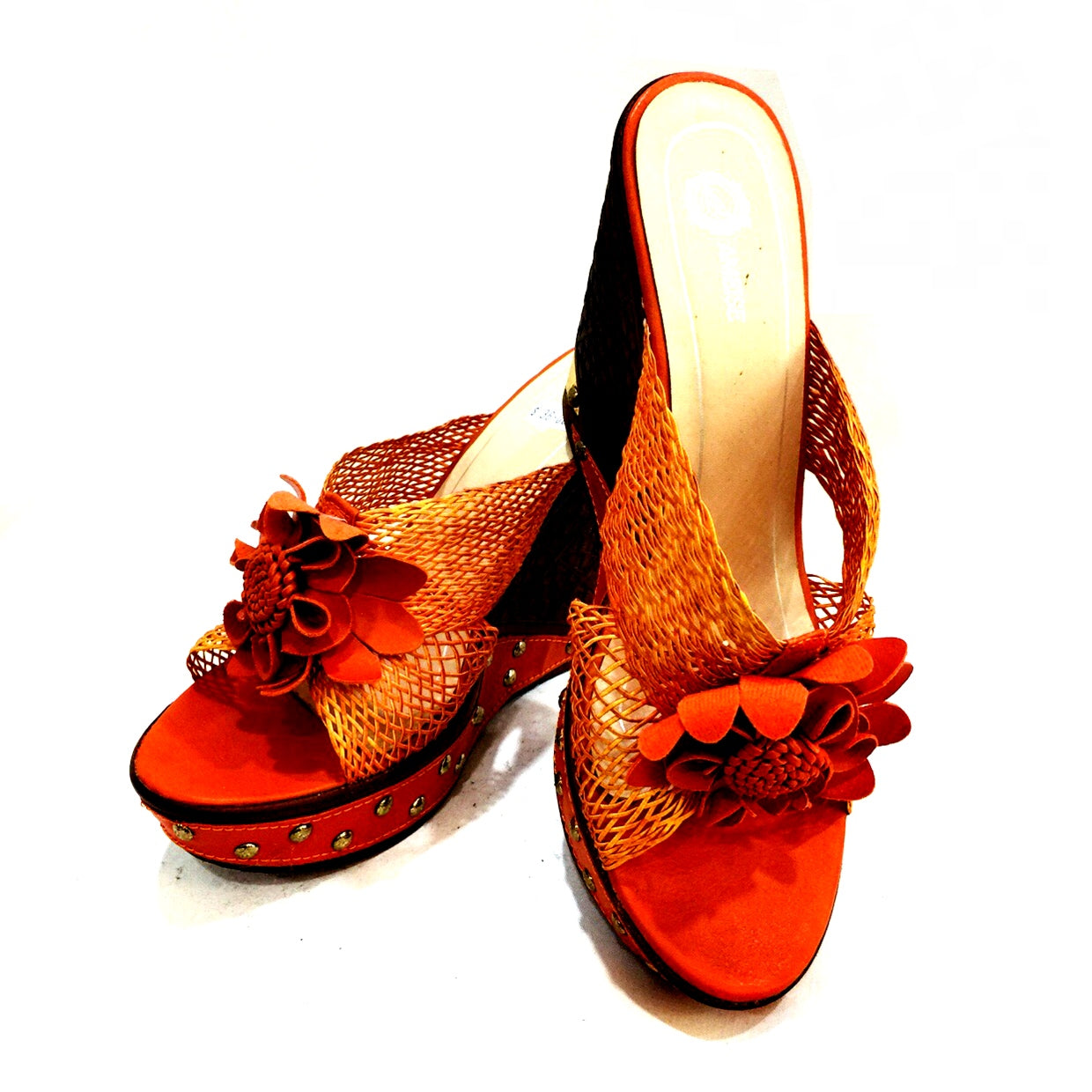 Lovina Flower Wedge Sandals