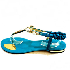 Teal Pearl Sandals