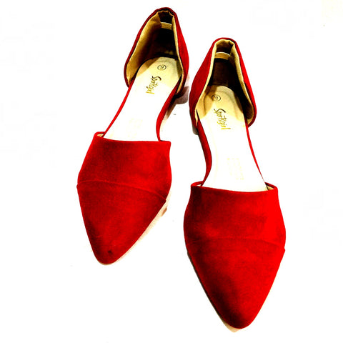 Red Pointy Sports Girl Shoes