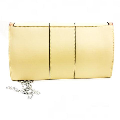 Verali Titan Ve Nude Clutch Bag