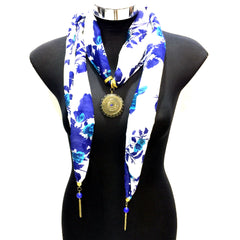 Scarf With Jewellery Pendant -SC03B