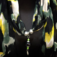 Scarf With Jewellery Pendant -SC04O