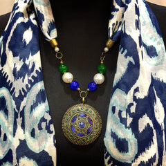 Scarf With Jewellery Pendant -SC08B