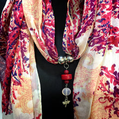Scarf With Jewellery Pendant -SC014P