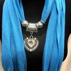 Scarf With Jewellery Pendant -SC017B