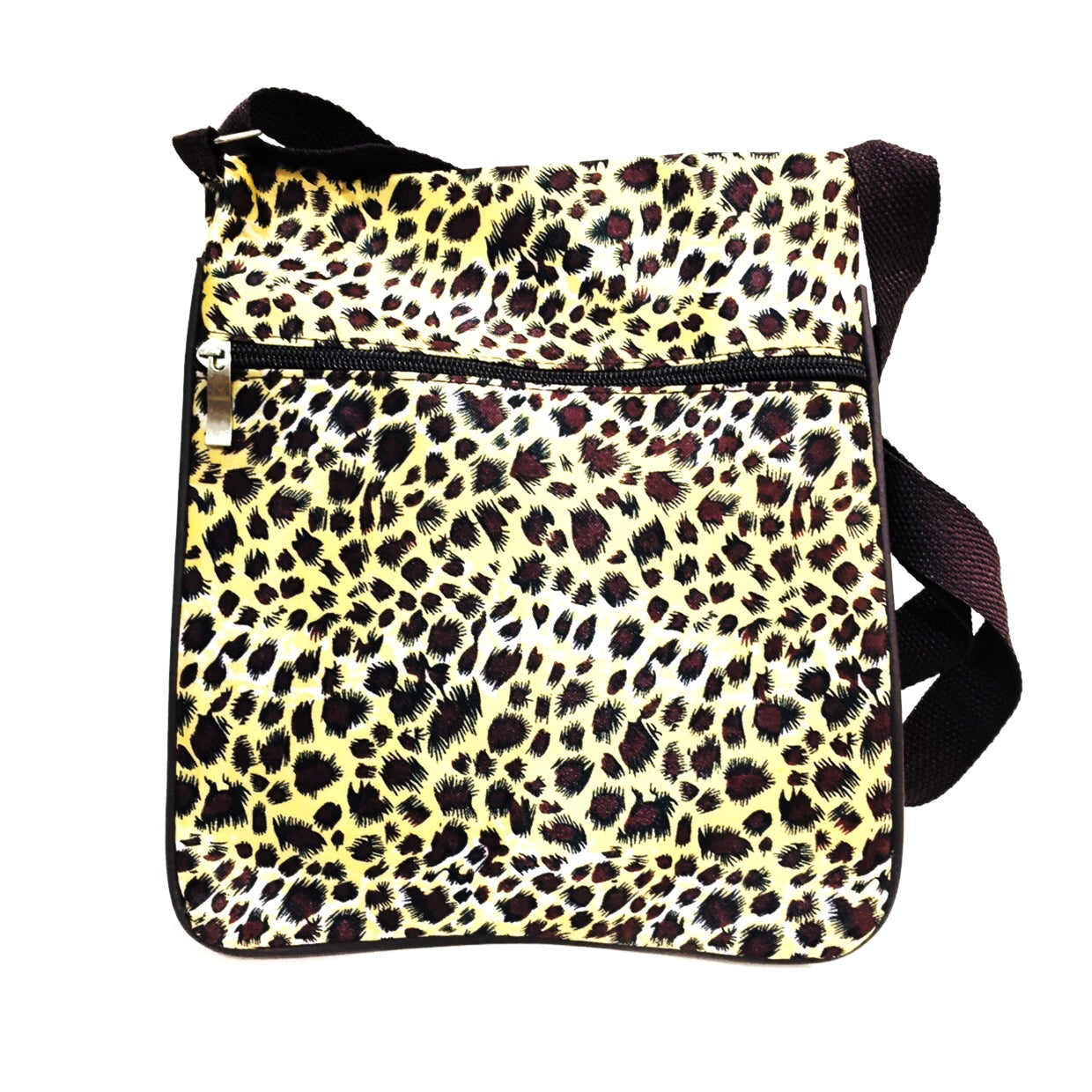 Leopard Carmel Gold Slim Shoulder Bag