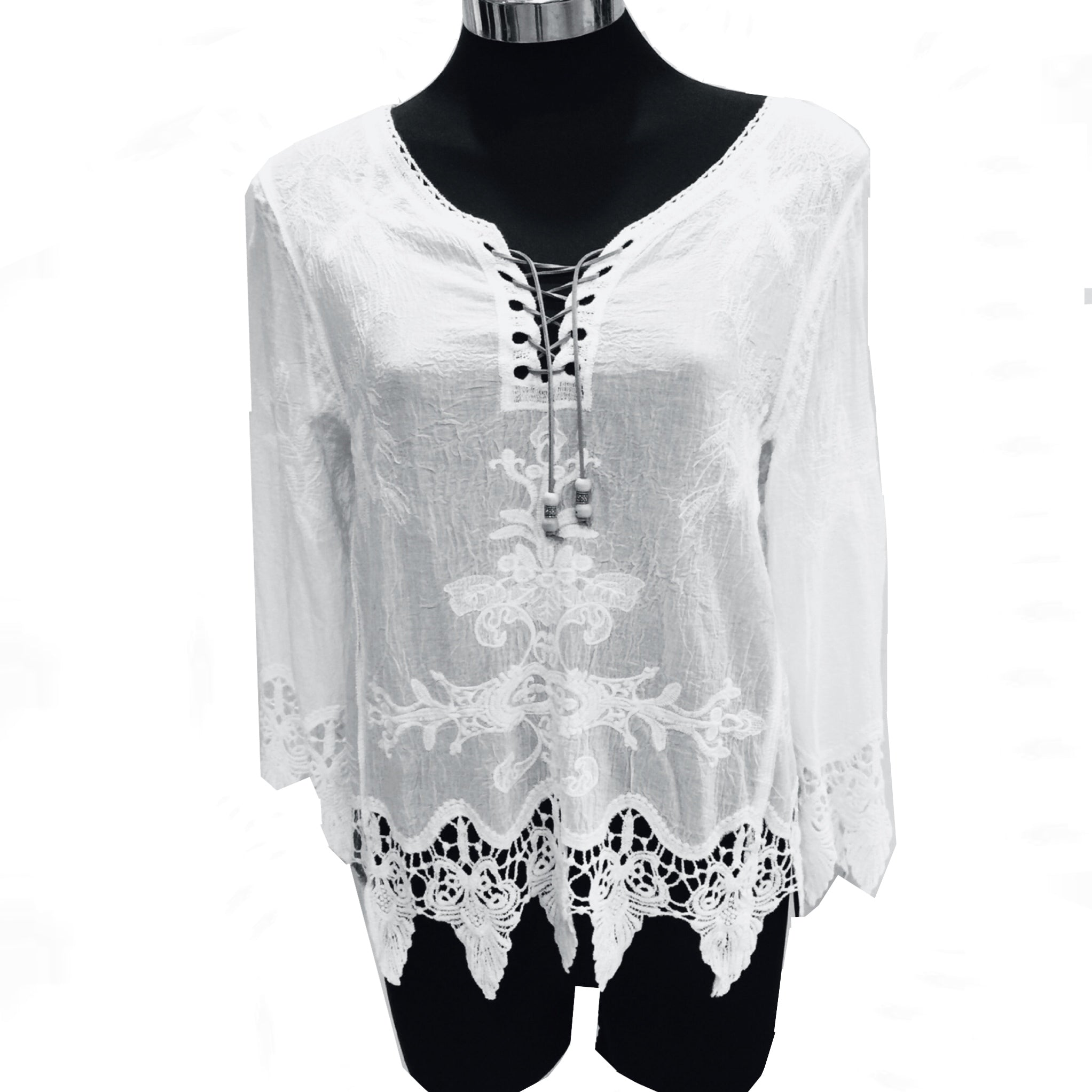 White Lace Top - W49T