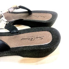 Bling, Sparkly, Shiny Thong - Sandals Black
