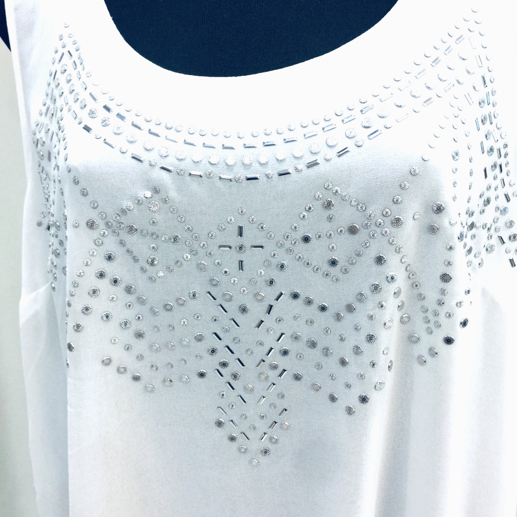 White Stud Top